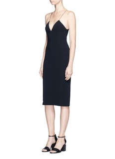 Alexander Wang  Mesh V-neck spaghetti strap dress