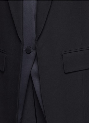 Detail View - Click To Enlarge - Alexander Wang  - Double layer satin collar tuxedo vest