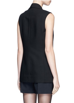 Back View - Click To Enlarge - Alexander Wang  - Double layer satin collar tuxedo vest