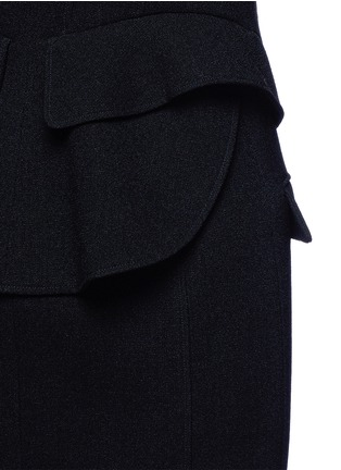 Detail View - Click To Enlarge - Alexander Wang  - Peplum back zip front long vest
