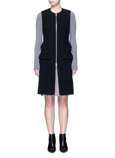 Alexander Wang Peplum back zip front long vest
