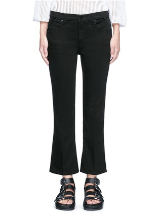 Detail View - Click To Enlarge - Alexander Wang  - 'Trap' cropped flared boot leg jeans