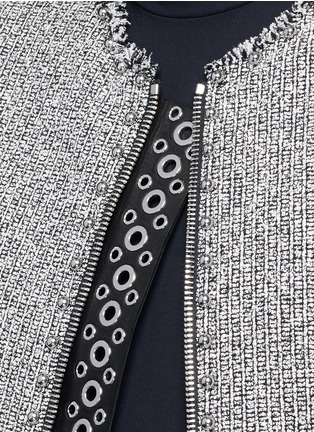 Detail View - Click To Enlarge - Alexander Wang  - Ball stud tweed peplum jacket