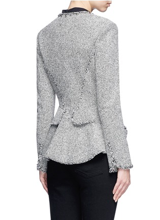 Back View - Click To Enlarge - Alexander Wang  - Ball stud tweed peplum jacket