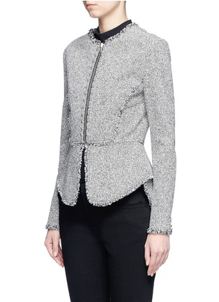 Front View - Click To Enlarge - Alexander Wang  - Ball stud tweed peplum jacket