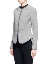 Ball stud tweed peplum jacket