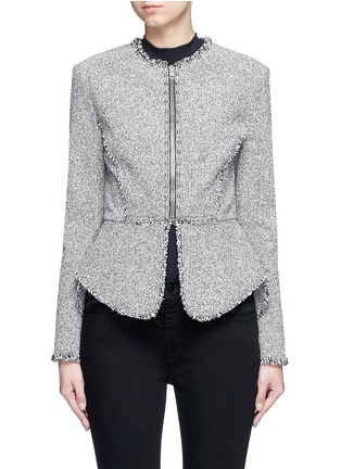 Main View - Click To Enlarge - Alexander Wang  - Ball stud tweed peplum jacket