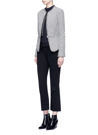 Figure View - Click To Enlarge - Alexander Wang  - Ball stud tweed peplum jacket