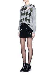 ALEXANDER WANG 'Argyle' cutout argyle intarsia sweater