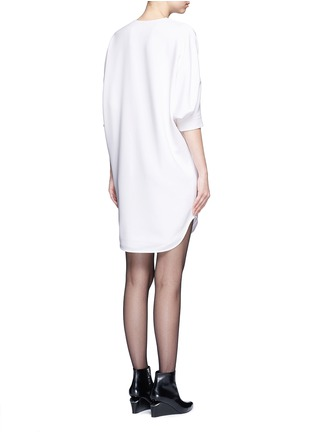 Back View - Click To Enlarge - Alexander Wang  - Keyhole front shirt tail dress
