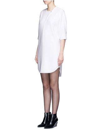 Front View - Click To Enlarge - Alexander Wang  - Keyhole front shirt tail dress
