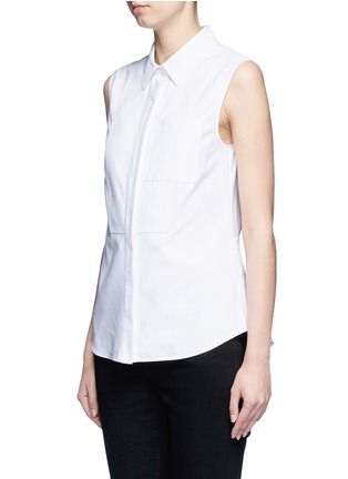 Front View - Click To Enlarge - Alexander Wang  - Peplum back sleeveless shirt