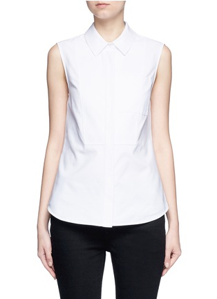 Main View - Click To Enlarge - Alexander Wang  - Peplum back sleeveless shirt