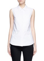 Peplum back sleeveless shirt