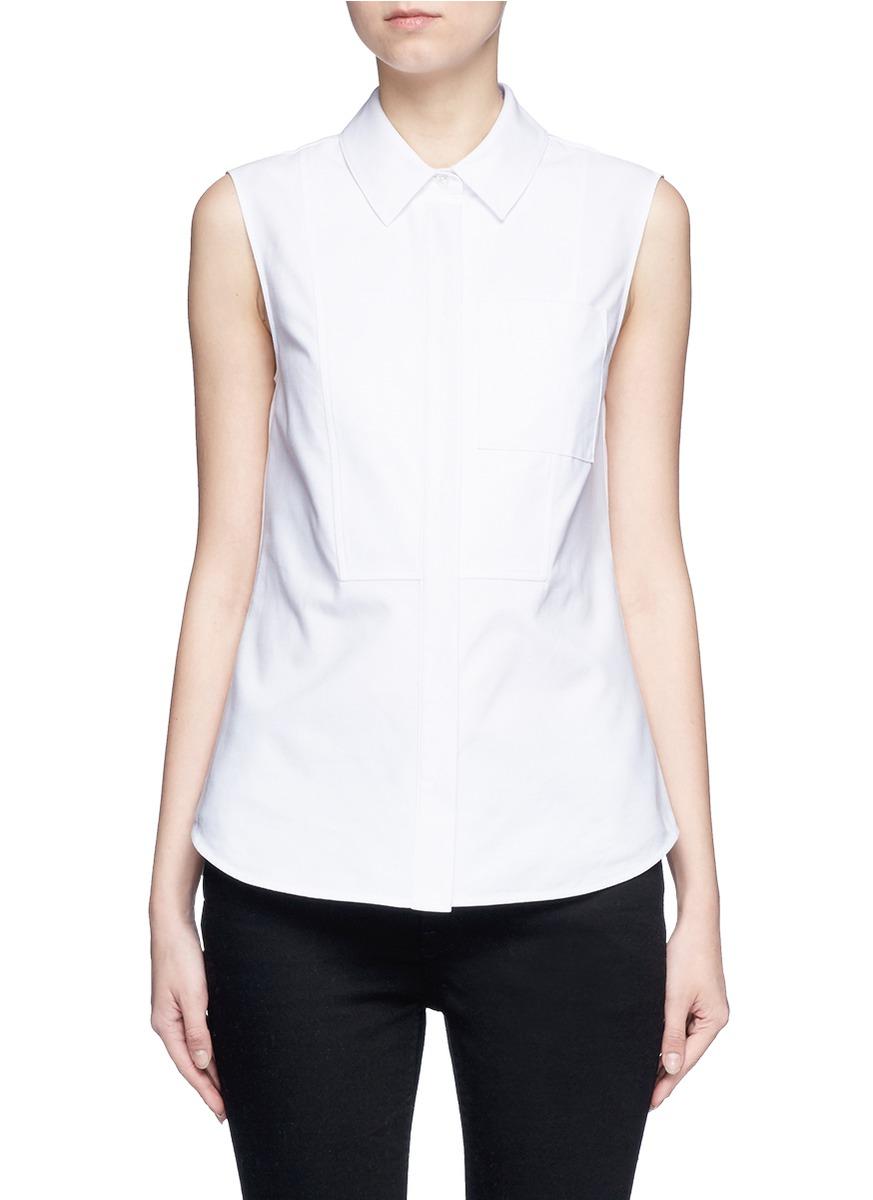 alexander wang female 45883 peplum back sleeveless shirt