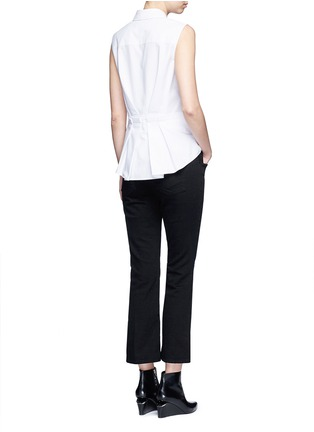 Figure View - Click To Enlarge - Alexander Wang  - Peplum back sleeveless shirt