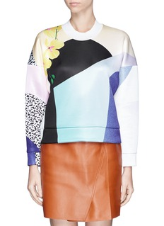 3.1 PHILLIP LIM Double face jersey print sweatshirt