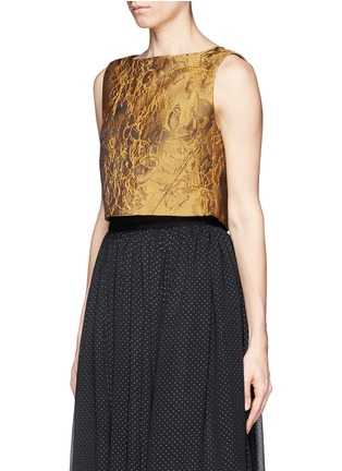 Front View - Click To Enlarge - alice + olivia - 'Cerra' floral jacquard top