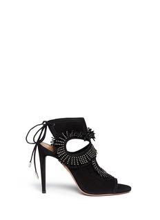 AQUAZZURA'Sexy Fringe' stud suede sandals