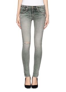 RAG & BONE/JEAN'Water St' ripped skinny jeans