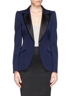 ALEXANDER MCQUEENSatin lapel tuxedo jacket