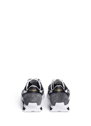Back View - Click To Enlarge - Reebok - 'Aztec WL' colourblock leather combo sneakers