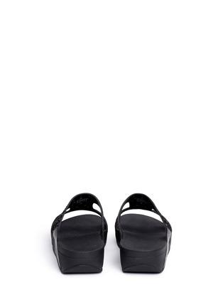Fitflop-'Carmel' stud lasercut suede slide sandals