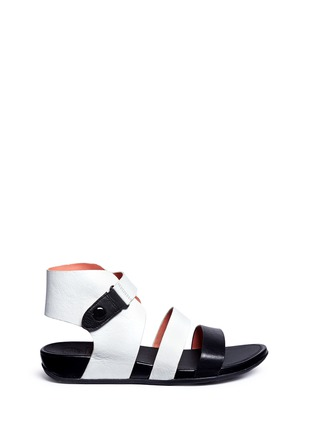 Main View - Click To Enlarge - Fitflop - 'Gladdie' colourblock leather sandals