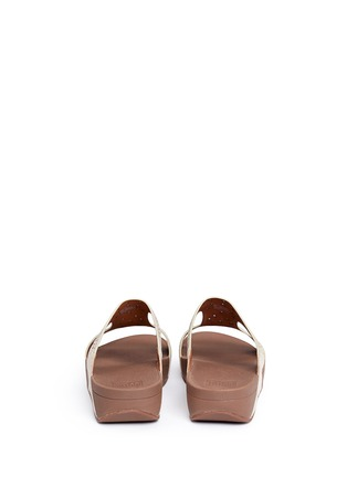 Back View - Click To Enlarge - Fitflop - 'Carmel' stud lasercut suede slide sandals