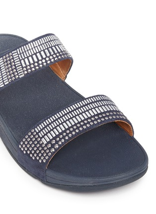 Detail View - Click To Enlarge - Fitflop - 'Aztec Chada' mosaic stud suede slide sandals
