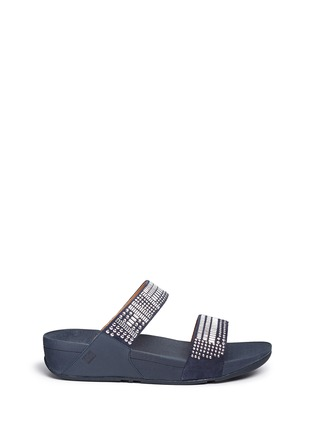 Main View - Click To Enlarge - Fitflop - 'Aztec Chada' mosaic stud suede slide sandals