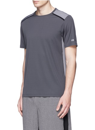 Front View - Click To Enlarge - Isaora - 'Torque Performance' mesh jersey T-shirt