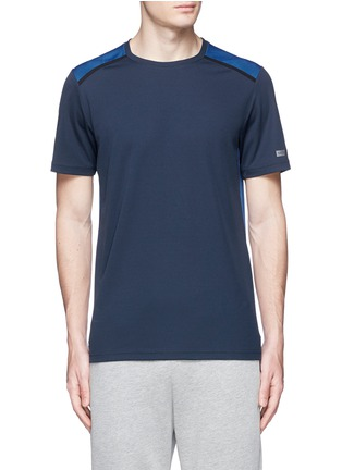 Main View - Click To Enlarge - Isaora - 'Torque Performance' mesh jersey T-shirt