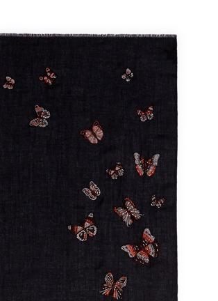 Janavi-'Butterfly Futter' embroidery cashmere scarf