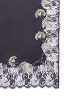 Petal flower embroidery lace cashmere scarf