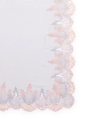 Detail View - Click To Enlarge - Janavi - Ombré double lace cashmere scarf