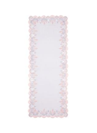 Main View - Click To Enlarge - Janavi - Ombré double lace cashmere scarf