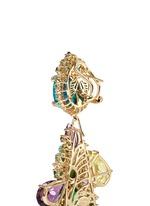 'Opals Poseidon' diamond pavé gemstone drop earrings