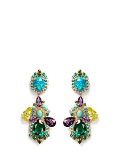 ANABELA CHAN'Opals Poseidon' diamond pavé gemstone drop earrings