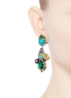 Anabela Chan 'Opals Poseidon' diamond pavé gemstone drop earrings