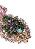 'Mirage' gemstone 18k yellow gold plated drop earrings
