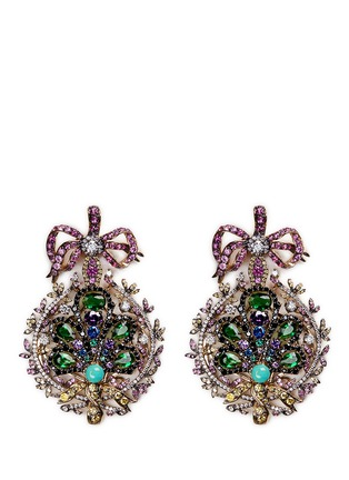 Main View - Click To Enlarge - Anabela Chan - 'Mirage' gemstone 18k yellow gold plated drop earrings