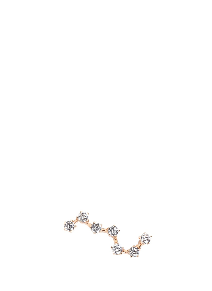 Constellation diamond 9k rose gold single creeper earring by Anabela Chan