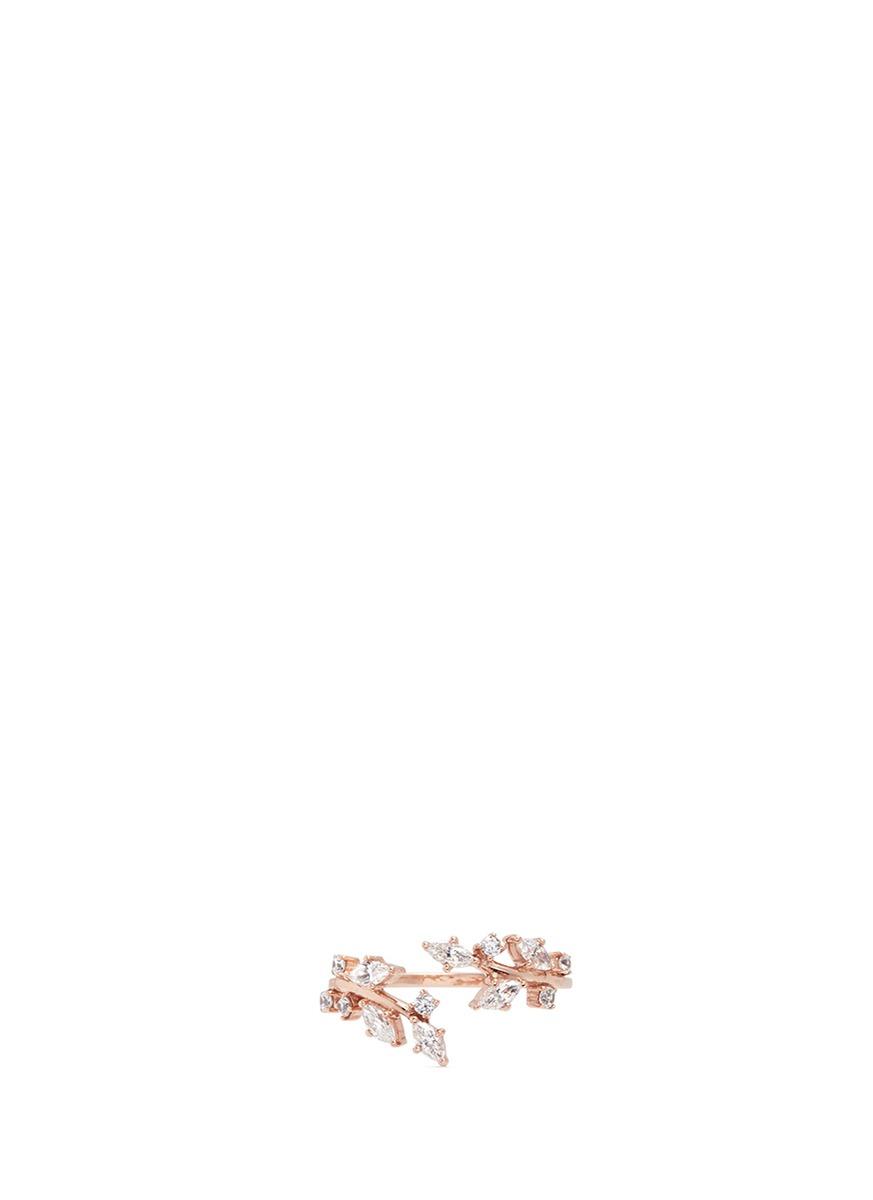 Ivy diamond 9k rose gold twist ring by Anabela Chan