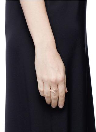 Anabela Chan-'Ivy' diamond 9k rose gold twist ring