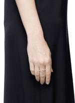 'Ivy' diamond 9k rose gold twist ring
