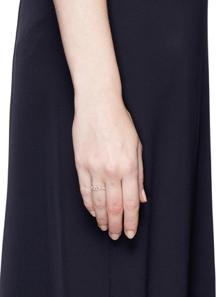Figure View - Click To Enlarge - Anabela Chan - 'Stardust' diamond 9k rose gold midi ring