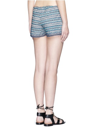 Back View - Click To Enlarge - Talitha - 'Faro' tribal embroidered drawstring shorts