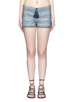 'Faro' tribal embroidered drawstring shorts