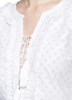 'Shyla' floral cutwork drawstring tunic dress